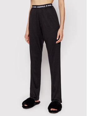 KARL LAGERFELD KARL LAGERFELD Pidžama hlače Logo 215W2182 Crna