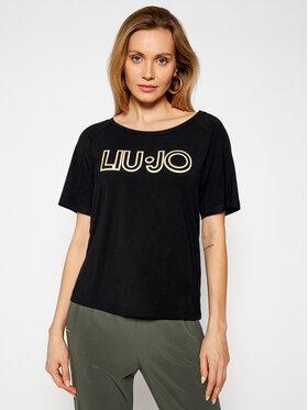Liu Jo Sport Liu Jo Sport T-Shirt TA1012 J7905 Černá Regular Fit