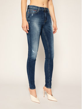 Tommy Jeans Tommy Jeans jeansy_skinny_fit Nora DW0DW09023 Tamsiai mėlyna Skinny Fit