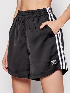 adidas adidas Sportske kratke hlače adicolor Classics Satin GN2774 Crna Loose Fit