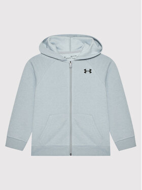Under Armour Under Armour Суитшърт Ua Rival Cotton Full Zip 1357613 Сив Loose Fit