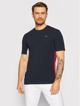 Tommy Hilfiger Tommy Hilfiger T-Shirt Blocked MW0MW18585 Granatowy Regular Fit