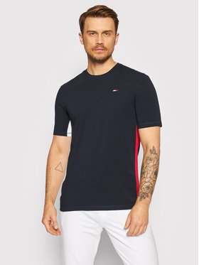 Tommy Hilfiger Tommy Hilfiger T-Shirt Blocked MW0MW18585 Tmavomodrá Regular Fit