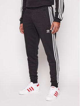 adidas adidas Παντελόνι φόρμας 3-Stripes GN3458 Μαύρο Fitted Fit