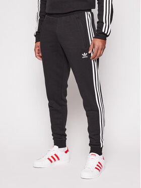 adidas adidas Spodnie dresowe 3-Stripes GN3458 Czarny Fitted Fit