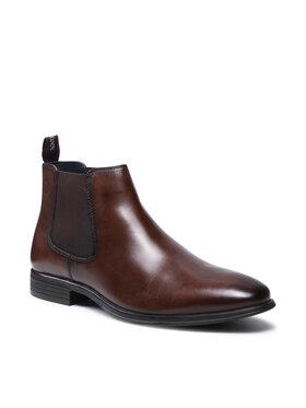 s.Oliver s.Oliver Kotníková obuv s elastickým prvkem 5-15300-27 Hnědá