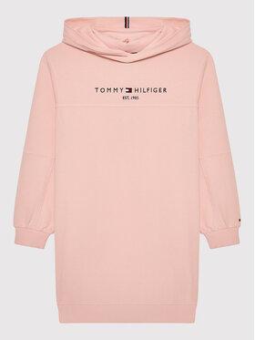 Tommy Hilfiger Tommy Hilfiger Sukienka codzienna Essential KG0KG05636 D Różowy Regular Fit