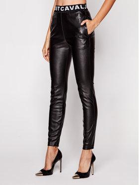 Just Cavalli Just Cavalli Pantalon en cuir S02KA0274 Noir Slim Fit