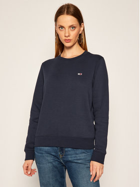 Tommy Jeans Tommy Jeans Pulóver Fleece DW0DW09227 Sötétkék Regular Fit