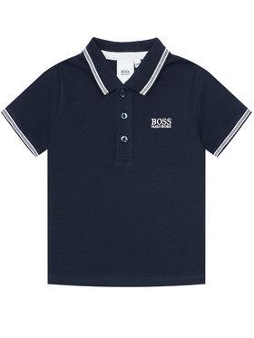 Boss Boss Тениска с яка и копчета J25P12 S Тъмносин Regular Fit