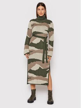 Element Element Úpletové šaty Olen Z3DRC3 Zelená Regular Fit