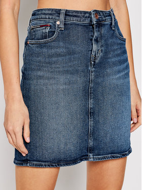 Tommy Jeans Tommy Jeans Spódnica jeansowa Classic DW0DW10105 Granatowy Regular Fit