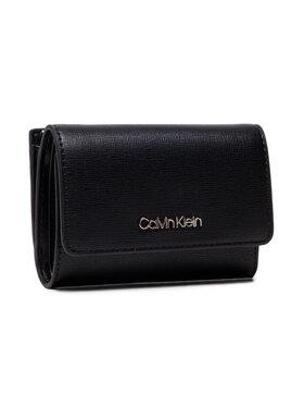 Calvin Klein Calvin Klein Малък дамски портфейл Trifold Sm Saffiano K60K608338 Черен
