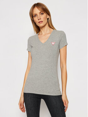 Guess Guess Marškinėliai Mini Triangle W1GI17 J1311 Pilka Slim Fit
