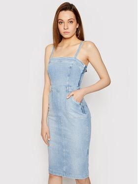 Guess Guess Sukienka jeansowa Foulard W1GK19 D3ZT7 Niebieski Slim Fit