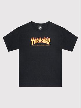 Thrasher Thrasher Tričko Flame Logo Čierna Regular Fit