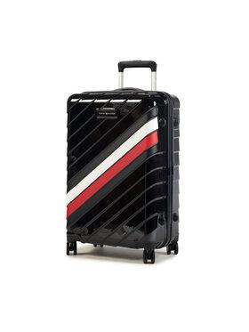Tommy Hilfiger Tommy Hilfiger Közepes keményfedelű bőrönd Corporate Case 24 AU0AU01061 Sötétkék