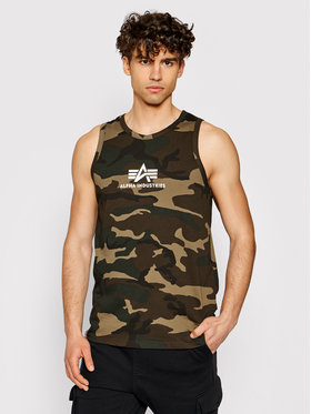 Alpha Industries Alpha Industries Tank top Basic Camo 126566C Zelená Regular Fit
