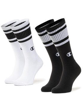 Champion Champion Σετ 2 ζευγάρια ψηλές κάλτσες unisex CH0008SU-8WV Μαύρο
