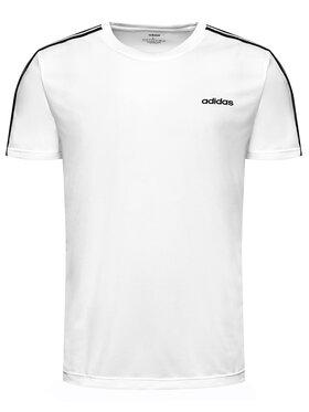 adidas adidas Тениска от техническо трико M D2M 3S Tee FL0356 Бял Standard Fit