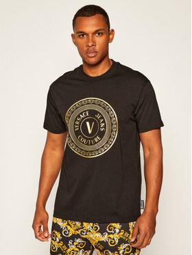 Versace Jeans Couture Versace Jeans Couture Тишърт B3GZA7TK Черен Regular Fit
