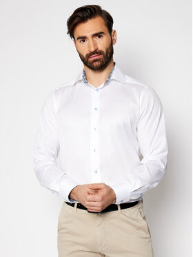 Eton Eton Marškiniai 100003059 Balta Regular Fit