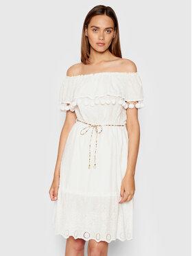 Rinascimento Rinascimento Sukienka letnia CFC0103455003 Biały Regular Fit