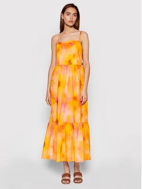 Rinascimento Rinascimento Sukienka letnia CFC0103696003 Pomarańczowy Regular Fit