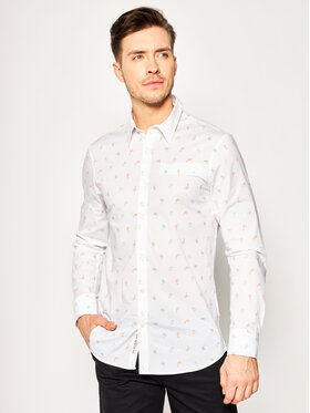Guess Guess Cămașă Ls Sunset Shirt M02H20 W8BX0 Alb Slim Fit
