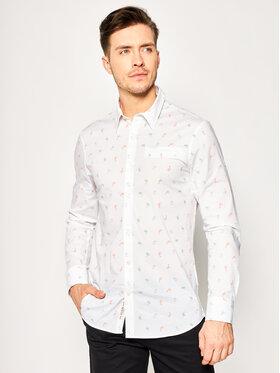 Guess Guess Hemd Ls Sunset Shirt M02H20 W8BX0 Weiß Slim Fit