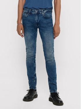 ONLY & SONS ONLY & SONS Skinny Fit džíny Warp 22013620 Tmavomodrá Skinny Fit