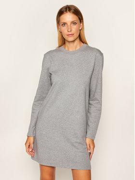 Calvin Klein Calvin Klein Úpletové šaty 3D Mettalic Logo K20K202242 Šedá Regular Fit