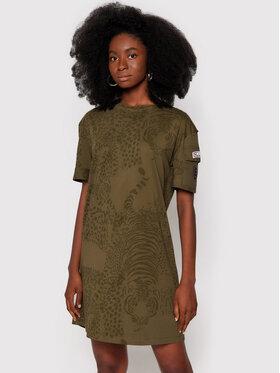 Desigual Desigual Každodenní šaty Naina 21WWVK69 Zelená Regular Fit