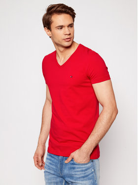 Tommy Hilfiger Tommy Hilfiger T-Shirt Stretch MW0MW13343 Rot Slim Fit