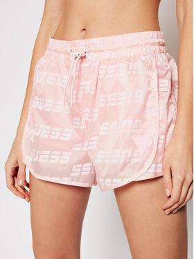 Guess Guess Pantalon scurți din material O1GA28 WDEZ0 Roz Regular Fit