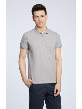 Vistula Vistula Тениска с яка и копчета Mike XA1274 Сив Regular Fit