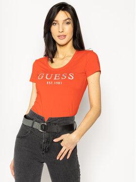Guess Guess Marškinėliai Femme W0GI0J J1300 Raudona Regular Fit