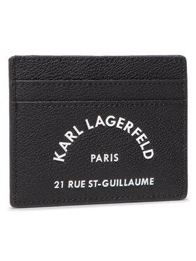 KARL LAGERFELD KARL LAGERFELD Bankkártya tartó 205W3237 Fekete