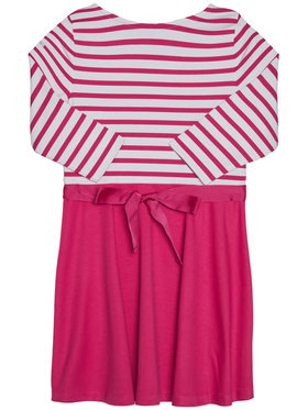 Polo Ralph Lauren Polo Ralph Lauren Sukienka codzienna Stripe Solid 312720091001 Różowy Regular Fit