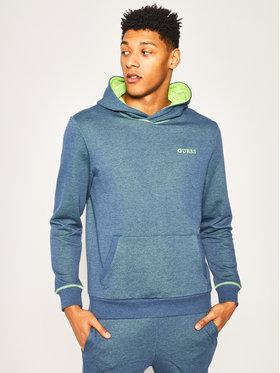 Guess Guess Džemperis Bradford Hoodie Fleece M0GQ44 K9PF0 Tamsiai mėlyna Regular Fit