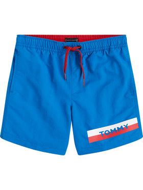 TOMMY HILFIGER TOMMY HILFIGER Szorty kąpielowe Medium Drawstring UB0UB00277 D Niebieski Regular Fit