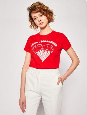 LOVE MOSCHINO LOVE MOSCHINO Tričko W4F7365M 3876 Červená Regular Fit