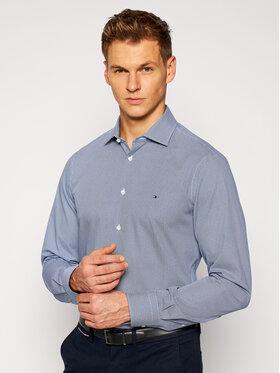 Tommy Hilfiger Tailored Tommy Hilfiger Tailored Koszula Poplin Design TT0TT08270 Granatowy Slim Fit