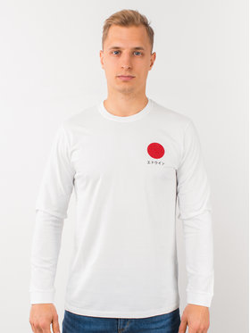 Edwin Edwin Longsleeve Japanese Sun Ts I026678 TH14J94 267 Biały Regular Fit