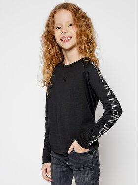 Calvin Klein Jeans Calvin Klein Jeans Blúz Foil Logo Ls Boxy IG0IG00667 Fekete Regular Fit