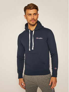 Champion Champion Bluza Small Script Logo Fleece 214780 Granatowy Comfort Fit