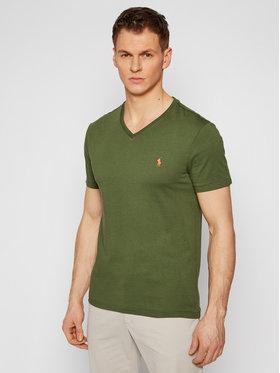Polo Ralph Lauren Polo Ralph Lauren T-shirt Ssl 710671453114 Vert Slim Fit