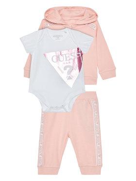 Guess Guess Completo felpa, body e pantalone tuta S0YG01 KA6W0 Rosa Regular Fit