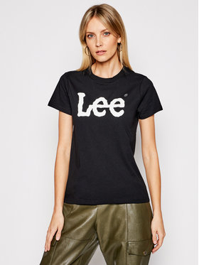 Lee Lee T-Shirt Logo Tee L42UER01 Czarny Regular Fit