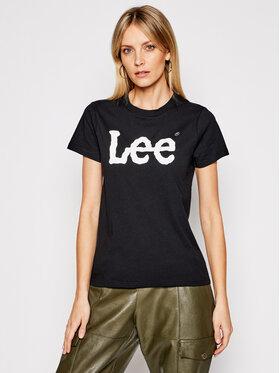 Lee Lee T-Shirt Logo Tee L42UER01 Schwarz Regular Fit